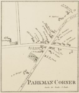 Drawing of Parkman as it was in 1882